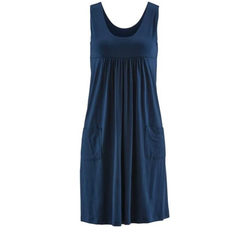 Fashion striped dress large size summer dress  loose simple sleeveless dress women's clothing 5