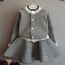 0-7лет/Осень Девочка Одежды Наборы сладкий принцессы Розовое пальто + Короткие юбки детская одежда Корейской версии BC1268