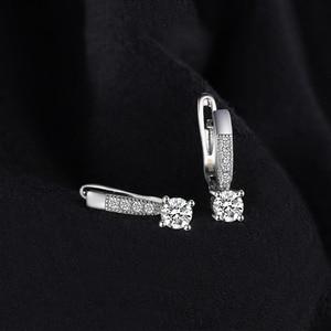 Image 2 - JewelryPalace 1ct клип серьги стерлингового серебра 925 Свадебные Юбилей украшения для Для женщин модные вечерние подарок 2018 Лидер продаж