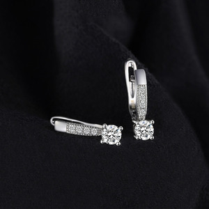 Image 2 - JewelryPalace kübik zirkonya klip küpe kadınlar için 925 ayar gümüş küpe kızlar için kore küpe moda takı 2020