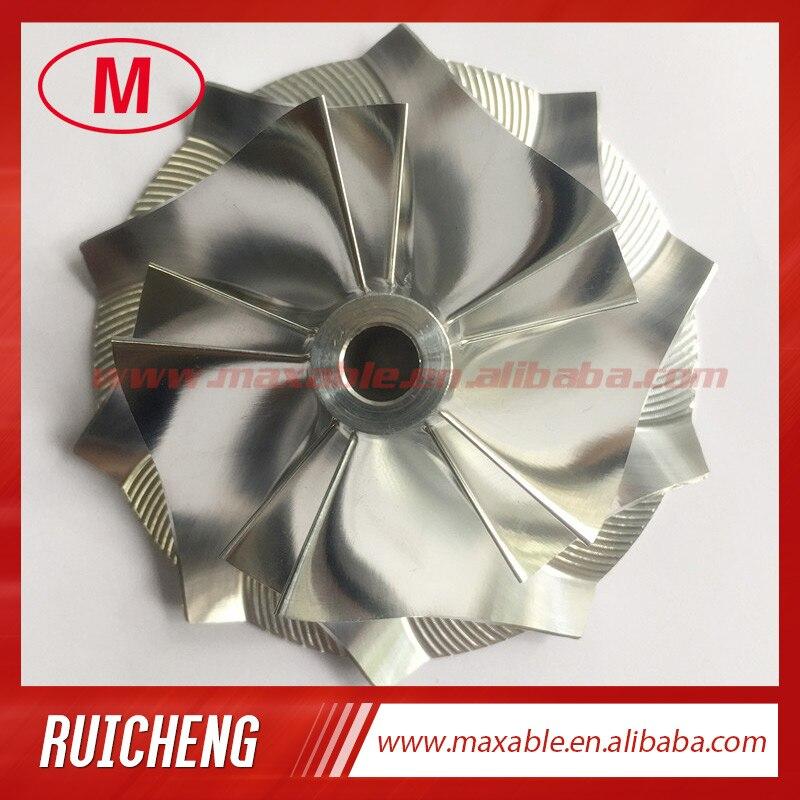 CT26 48,04/68,00 мм 5 + 5 лезвий высокая производительность турбо заготовка/Фрезерование/алюминий 2618 компрессор колеса