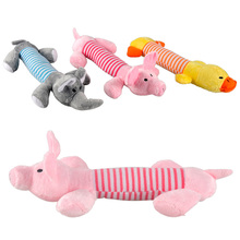 Cute Duck Pig Elephant Pet Cat Dog Toy Funny Sound Squeaker Dog Toys Stuffed Durable Dogs Chew Toy Dolls Christmas Gift For Pets fluffy toy hidden cat hide and seek game baby animated stuffed elephant dolls m15