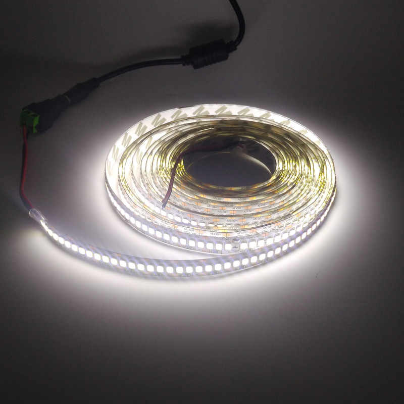 5 M/Gulungan Ribbo LED Strip Flexible 12 V DC 60LED/M 120 Leds/M 180 Leds /M 240 Leds/M SMD2835 Neon Pita LED Rope Light Putih Hangat