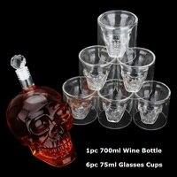 Хрустальный череп, голова стеклянная чашка с двойными стенками стеклянные виски водки чашки для кофе Shot glass es набор бутылки бар вечерние при...