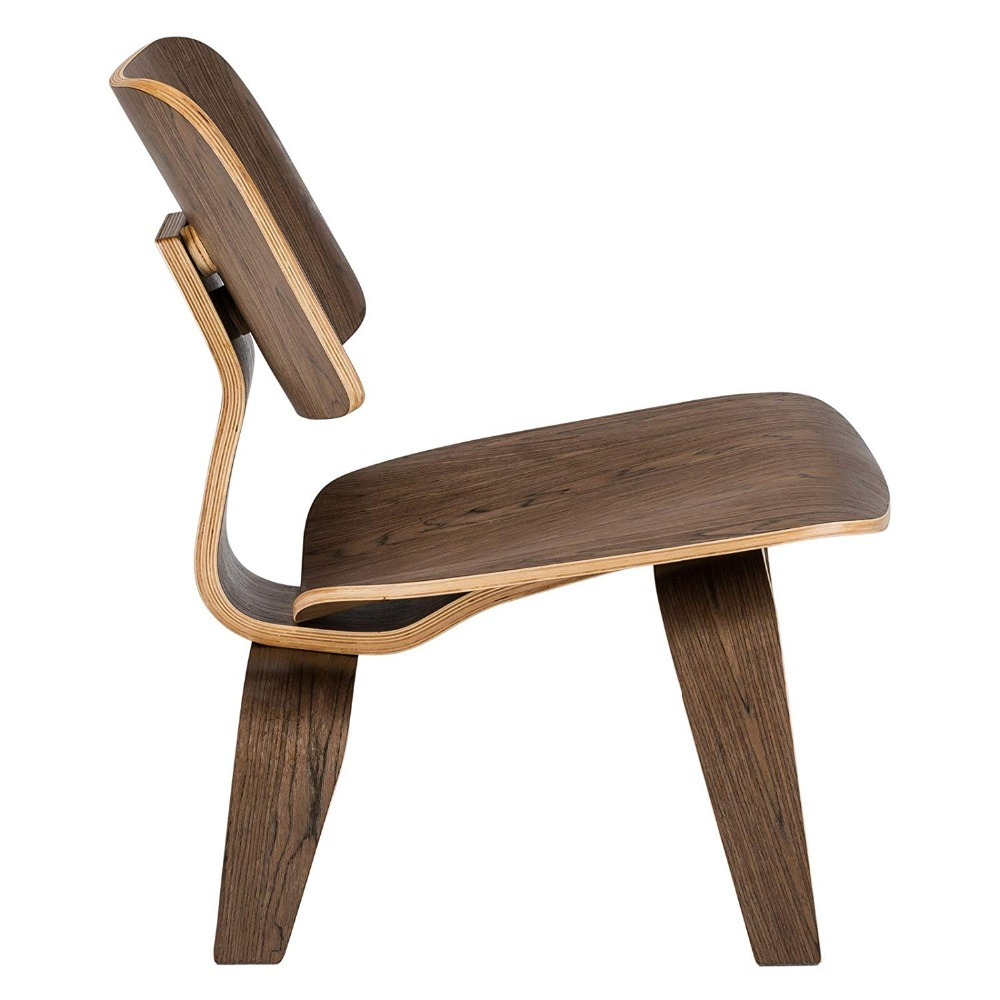 Lage Lounge Stoel.Modern Plywood Lounge Chair Natural Walnut Wood Low Lounge Chair