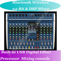 MICWL 10 Channel Wireless Bluetooth Microphone Karaoke Studio Mixers Mixing Console DSP 40KHZ 24 Bit Digital Effect Processor