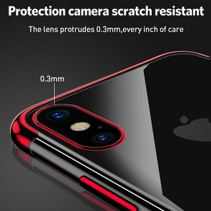Image 5 - 전기 도금 케이스 iPhone 11 Pro 7 8 6 6s s Plus 12 iPhone X XR XS Max 쉘용 투명 소프트 실리콘 도금 커버