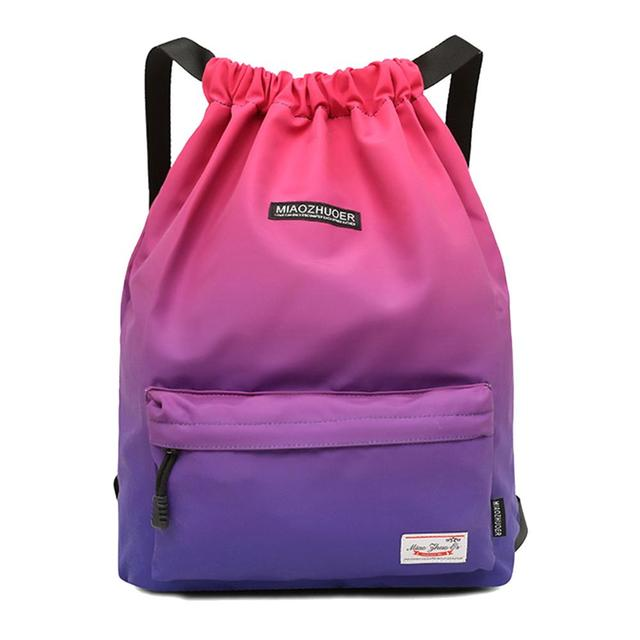 Waterproof Gym Bag Woman Girls Sports Bag Travel Drawstring Backpack Outdoor bag for Training Swimming Fitness Bags Softback
