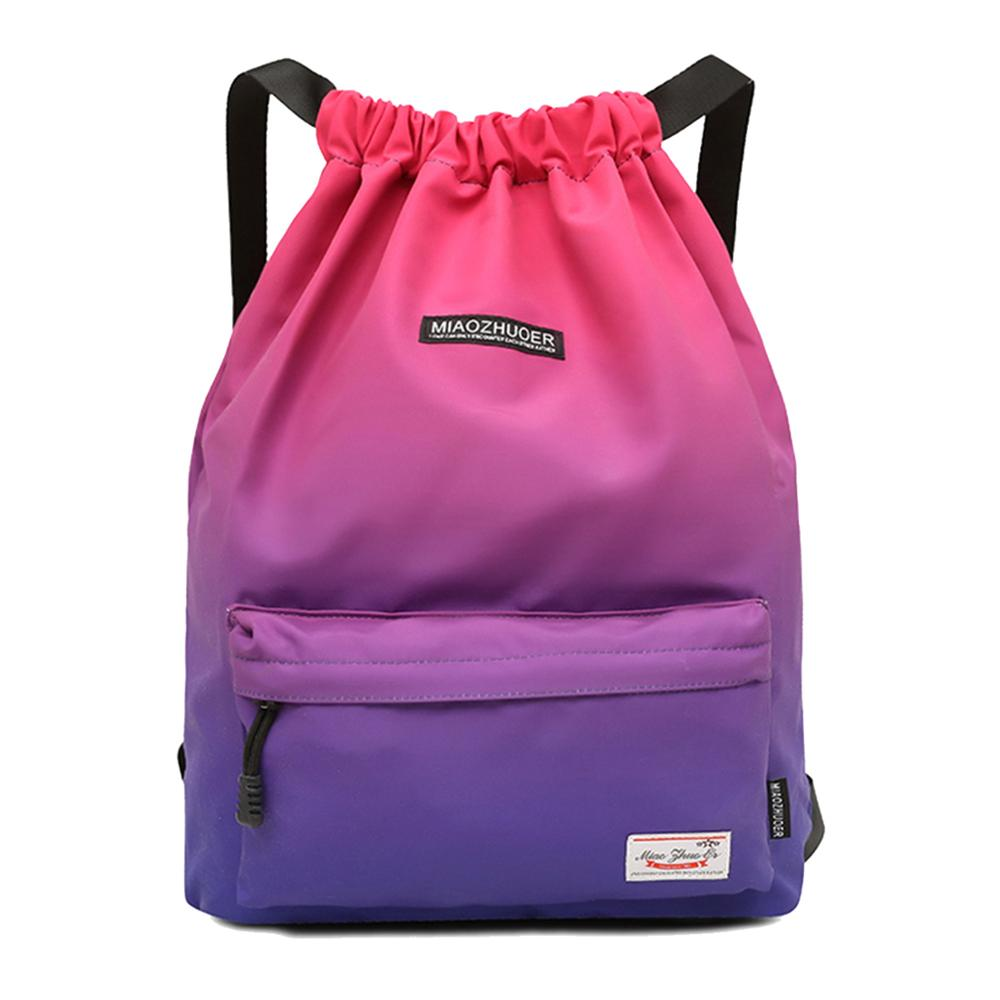 Waterproof Gym Bag Women Girls Sports Bag Travel Drawstring Bag Outdoor Bag Backpack for Training Swimming Fitness Bags Softback