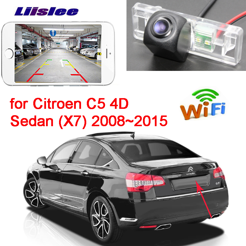 LiisLee New Arrival Car wireless backup Reverse camera for Citroen C5 4D Sedan X7 2008 2015