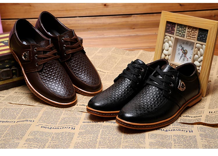 HTB1amm2aXYM8KJjSZFuq6Af7FXaT 2019 Men Leather Casual Shoes Men's Lace Up Footwear Business Adult Moccasins Male Shoes Chaussure Home