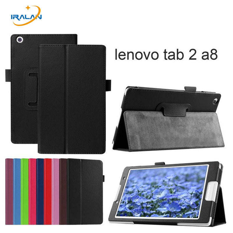 For lenovo tab3 8 TB3-850M/F PU leather stand protective Tablets e-Books Case for lenovo tab 2 A8-50 A8-50F A8-50LC cover + pen