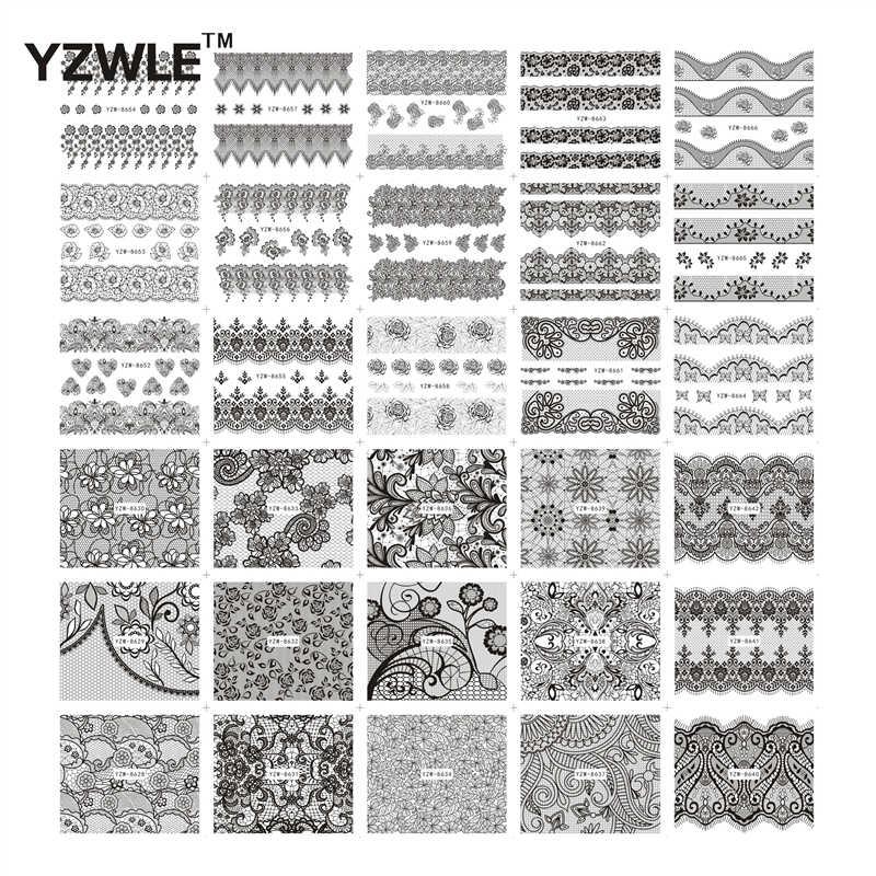 ZKO 10 إلى 100 قطعة مزيج أنماط الأزياء المياه نقل الشارات DIY مسمار الفن زينة ملصقات نصائح ل مشذب الاظافر