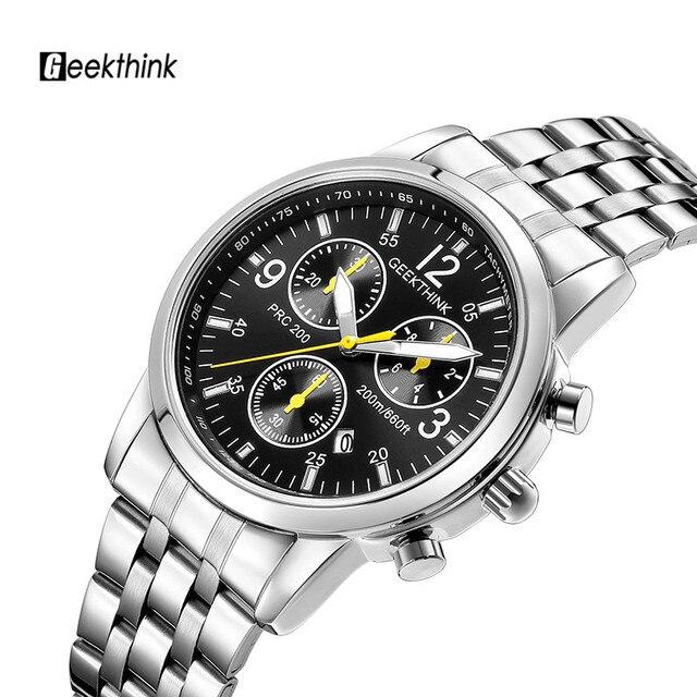 dbca96980c1 Militar dos homens relógios de pulso de aço Inoxidável Dos Homens top marca  de luxo Big