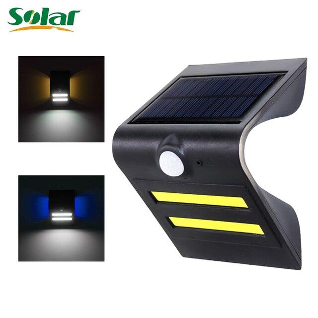 Solar Lights Outdoor Fence Light Wireless Waterproof LED Solar Lamp For  Porch Patio Yard Garden Walkways