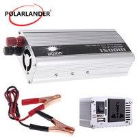 Convertidor de 1500W  fuente de alimentación  50Hz  inversor portátil USB  cargador de coche DC 12V a AC 110V  transformador de voltaje
