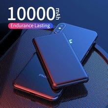 ROCK тонкий внешний аккумулятор 10000 мАч, портативная зарядка, ультра тонкий внешний аккумулятор, запасная батарея для iPhone, повербанк 10000 мАч
