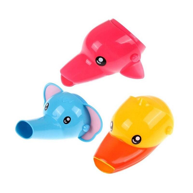 1 Stück Glücklich Spaß Tiere Wasserhahn Extender Baby Wannen Kinder Hand Waschen Waschbecken Geschenk Mode Und Bequem