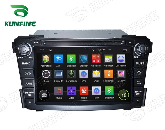 Quad Core 1024*600  Android 5.1 Car DVD GPS Navigation Player for Hyundai I40 2011-2016 Radio  steering wheel control Remote
