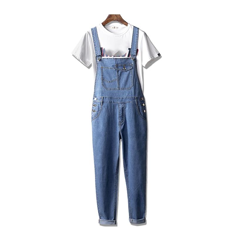 Faithful Loose Women Jean Jumpsuits Summer New Thin Hole Hip Hop Jumpsuit For Women 2017 Fashion Female Jeans Pants Overalls Bottoms