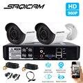 SAQICAM 4CH CCTV Sistema de Câmera 960 P 2 PCS 1080N 1200TVL IR Outdoor Night Vision Camera CCTV AHD Segurança Vigilância Kit DVR