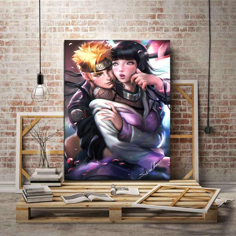 Naruto and Sexy Hinata Animation Picture Modern Artwork Home Decor Wall Top-Rated Canvas Print Type 1 Piece Style Poster