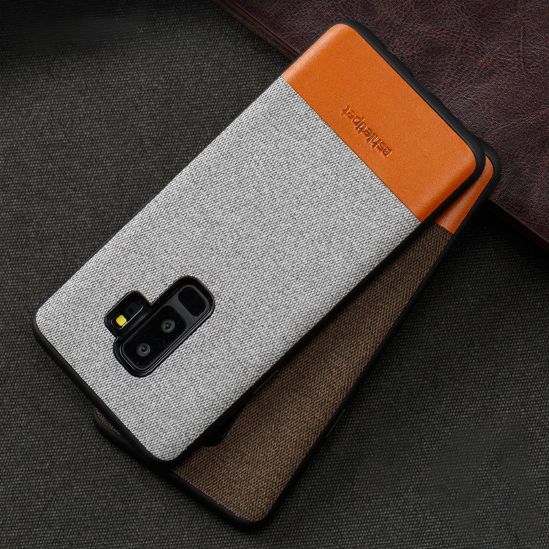 Genuine leather Phone Case For Samsung Galaxy S8 S9 Plus Note 8 9 S7 edge Stitching Back Cover For a3 a5 a7 j3 j5 j7 2017 Case