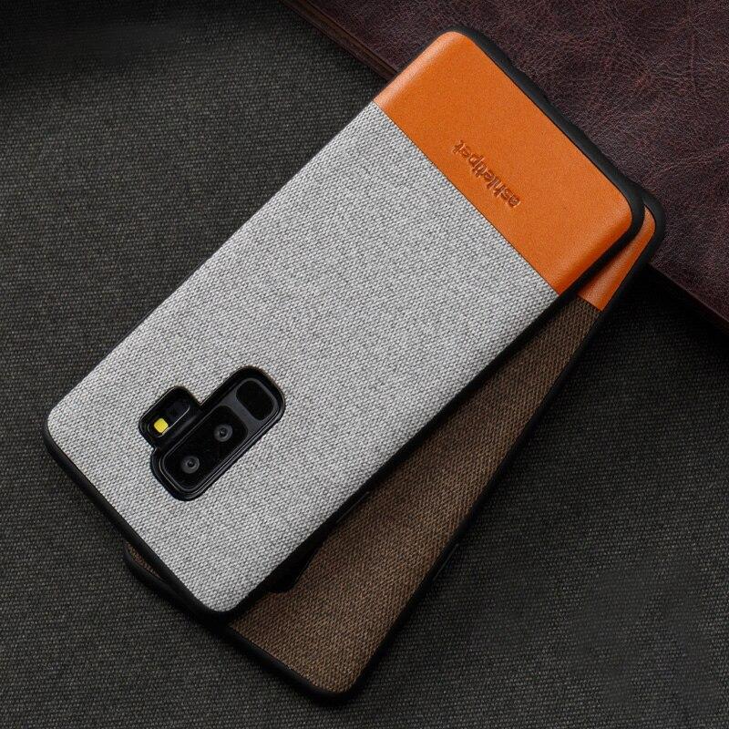 Véritable Cas de Téléphone en cuir Pour Samsung Galaxy S8 S9 Plus Note 8 9 S7 bord Couture Retour Couverture Pour a3 a5 a7 j3 j5 j7 2017 Cas