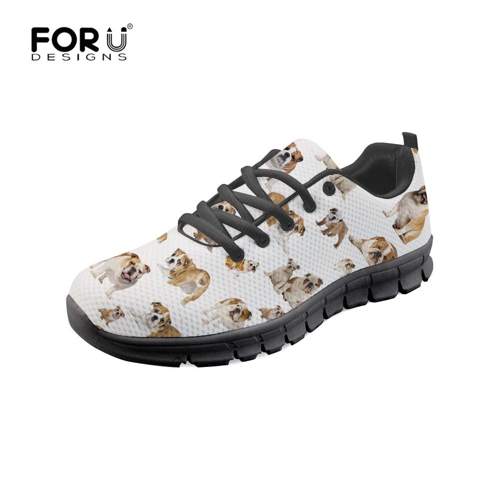 Forudesigns Frauen Clasic Casual Schuhe Bulldog Nette Muster Sneaker Tenis Feminino Mode Atmungsaktives Mesh Schuhe Für Frau 2019 Elegant Im Geruch