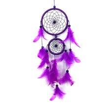Фиолетовый Ловец снов висячие украшения перо кольцо «Ловец снов» колокольчики перо кулон творческий автомобиль Декор