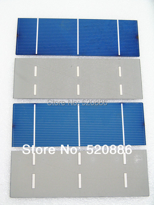 120 pcs 16% efficiency 2x6 polycystalline solar cell 1.3w/pc , DIY solar panel for home use ,free shipping