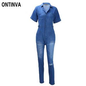 Top 10 Most Popular Plus Size Blue Jean Jumpsuit Short Women List