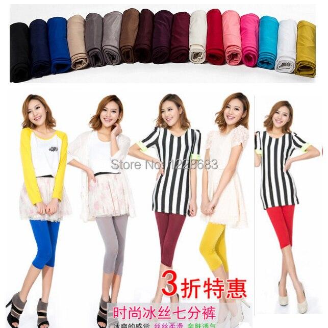 Free Shipping New 2020 Spring Summer 17 Neon Colors Girls Women's Ballet Jeans Dance Legging Pants Capri Legging for sale