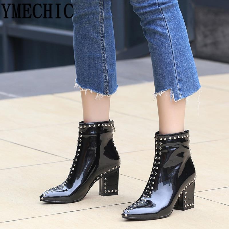 BaoYaFang Brand New arrival womens low heel shoes 5cm Flock Autumn fashion shoes woman strange heel