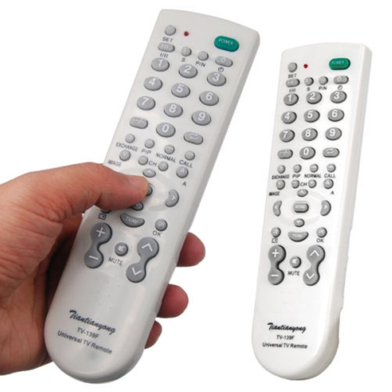 Mayitr 1pc New Universal Remote Control White High Quality One For All Remote Controller For Television one piece 1x brand new high quality silicon protective skin case cover for xbox 360 remote controller blue green mix color