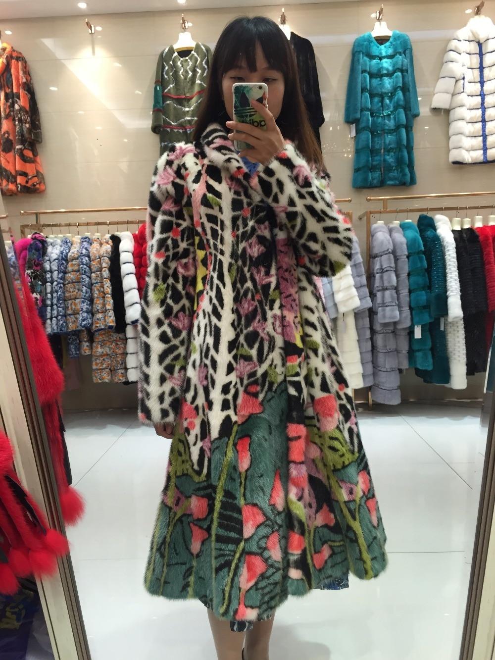 De Femmes Outwear Sqxr Fourrure Manteau Veste Real Avec Multi Vraie Naturel D'hiver Fleur Conception Vison La wnnaqRx
