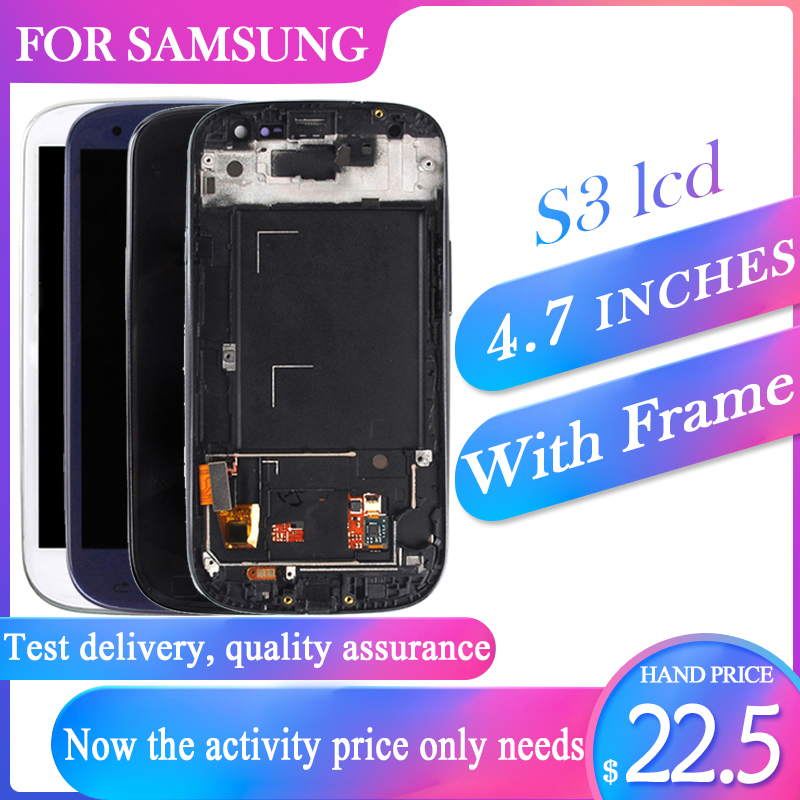 Catteny i9301 i9305 Lcd Display For Samsung Galaxy S3 Lcd i9300 Display With Touch Screen Digitizer Assembly+Frame+Homebutton-in Mobile Phone Touch Panel from Cellphones & Telecommunications