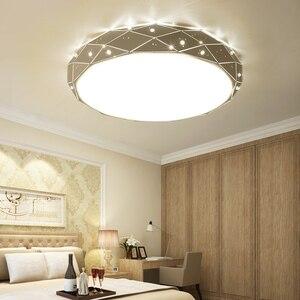 Image 2 - Yeni Modern LED tavan avizeler için avizeler oturma odası yatak odası mutfak halka avize aydınlatma Ac90 260V alüminyum fikstür