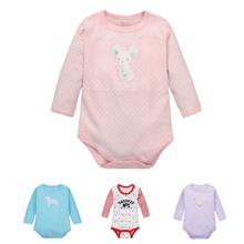 Moms Care Dotted Baby Rompers 100% Cotton Long Sleeve Baby Wear Colorful Spring Autumn Infant Jumpsuit Boys Girls Clothes