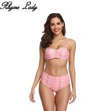 Rhyme Lady Бразильский бикини пуш-ап сексуальный комплект бикини Новое поступление горячая Распродажа купальные костюмы женский плед из двух частей пляжная одежда XL