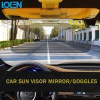 New Auto Sun Visor Clip Sunshade Goggles Cover Day And Night Anti UV Anti Dazzle Interior