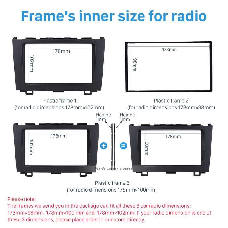 seicane quality double din car stereo radio fascia trim kit for 2008 rh aliexpress com