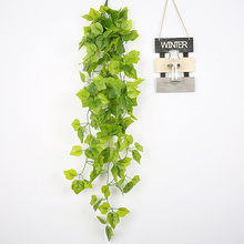 1 M Artificial Flowers Ivy Green Leaf Plants wedding decoration Vine Fake Foliage Home Decor Plastic Flower Rattan