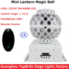 DJ Lighting Remote Control RGBW Quad Color LED Crystal Magic Ball Stage Lights 10M Control Range