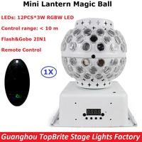 DJ Lighting Remote Control RGBW Quad Color LED Crystal Magic Ball Stage Lights 10M Control Range