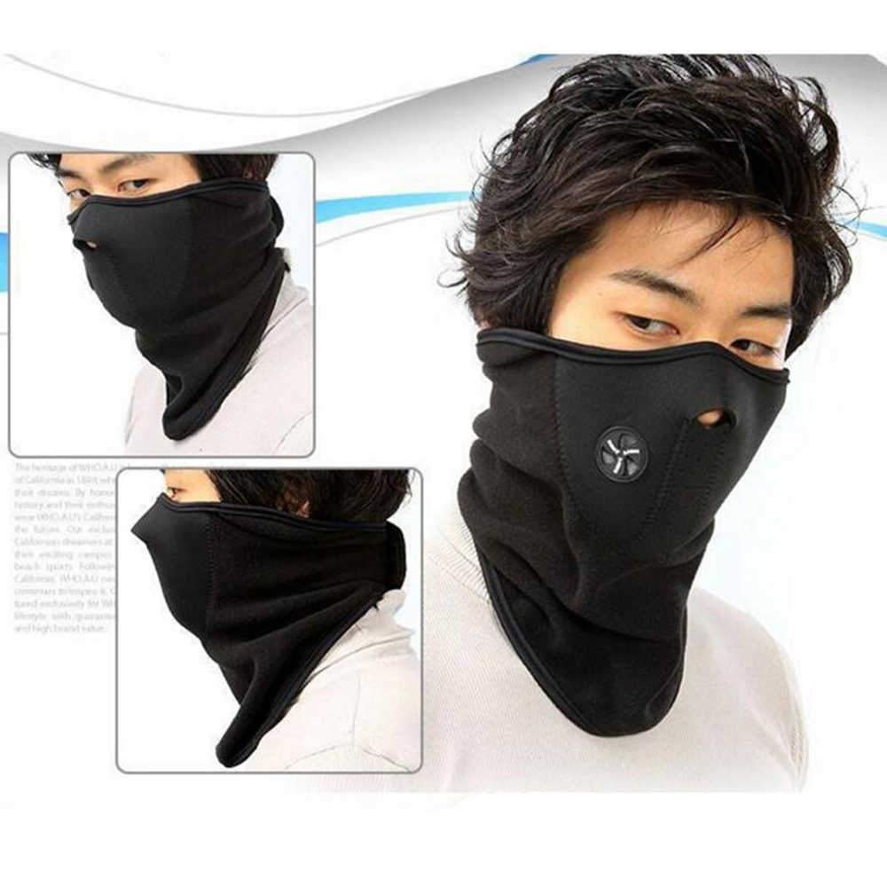 Warm Motorcycle Face Mask Thermal Face Mask Windproof Dust Motor  Kneepad Winter CS Mask Caps Neck Warmer Fleece