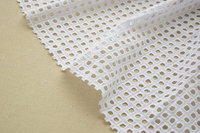 cotton lace fabric with hollowed out checks