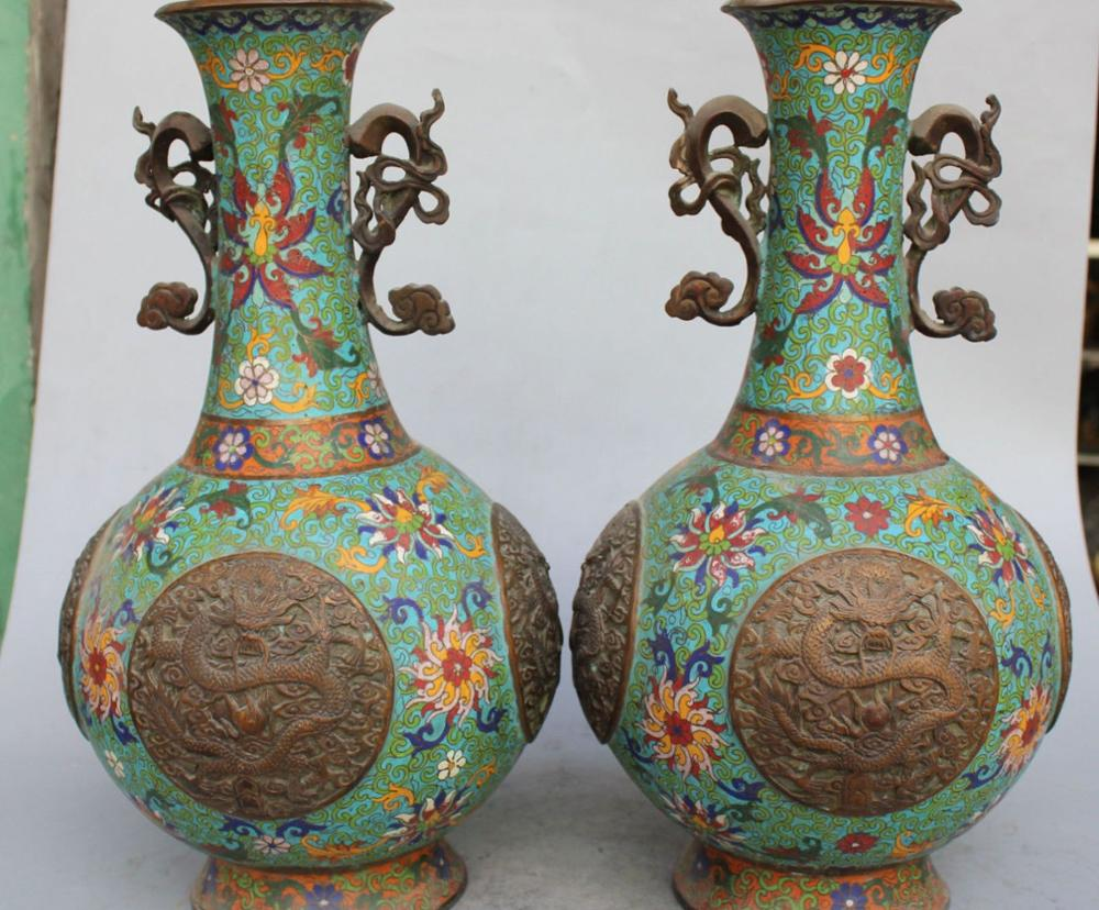 17marked chinese purple bronze cloisonne enamel dragon flower 17marked chinese purple bronze cloisonne enamel dragon flower vase pair statue on aliexpress alibaba group reviewsmspy