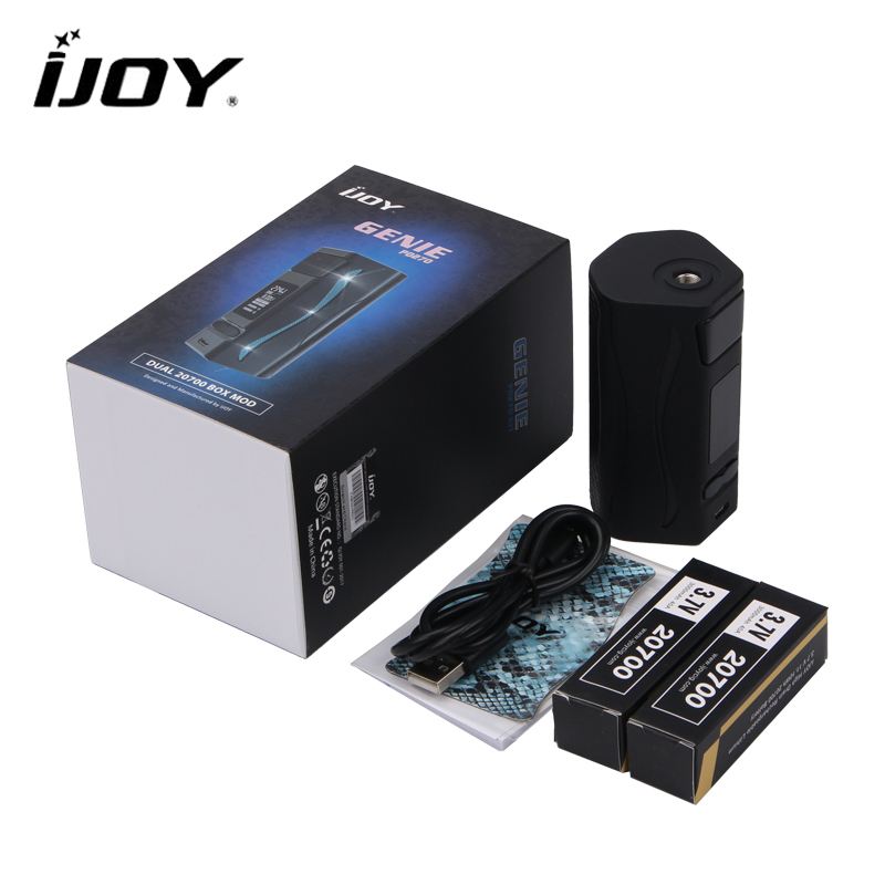 Original IJOY Genie PD270 Box Mod NI/TI/SS 234W with Dual 20700 Battery Support Firmware Upgradeable Electronic Cigarette Mod original ijoy captain pd270 box mod 234w ni ti ss tc electronic cigarette vaper power by dual 20700 vape mod vaporizer atomizer