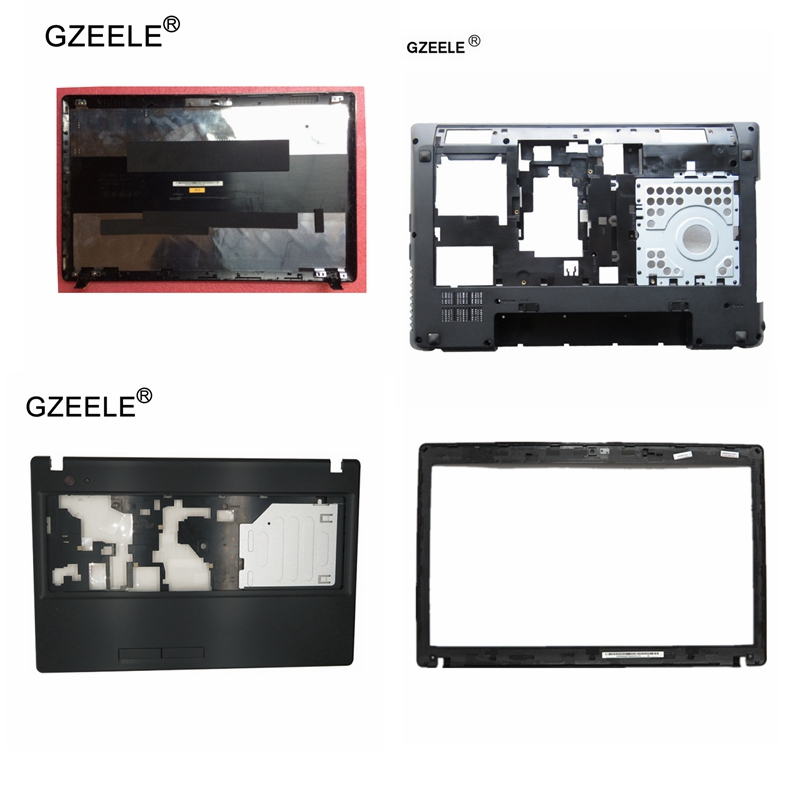 GZEELE New Cover for Lenovo for IdeaPad G580 G585 LCD Top Back/Front Bezel/Palmrest upper/Bottom Case Base Notebook AM0N2000100 gzeele new for lenovo ideapad g500 g505 g510 g59015 6 base bottom cover case door